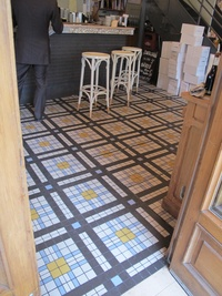 French Cafe Mosaic Floor