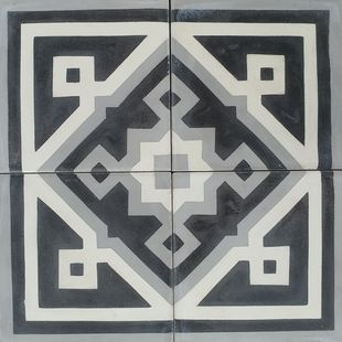 Cement Encaustic Tile Azrou Design - Corners / Panel 930