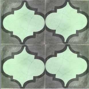 Cement Encaustic Tile Arabesque Design 964