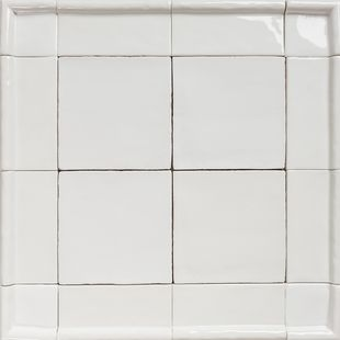 Handmade Natura White Gloss Tiles with Border