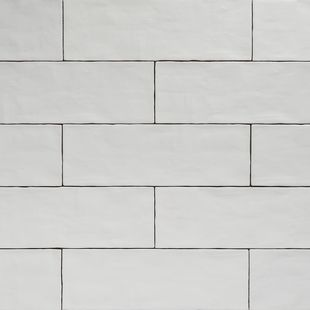 Handmade White Matt Natura Wall Subway Tiles 396×130 in Stretcher Bond Design