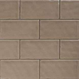 Subway Taupe Gloss Wall Tiles 150×75 Classico Textured in Stretcher Bond Design