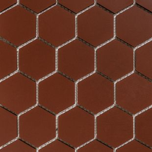Hexagon Mosaic French Porcelain – Special Red