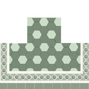 Fireplace - Hexagonal with Border