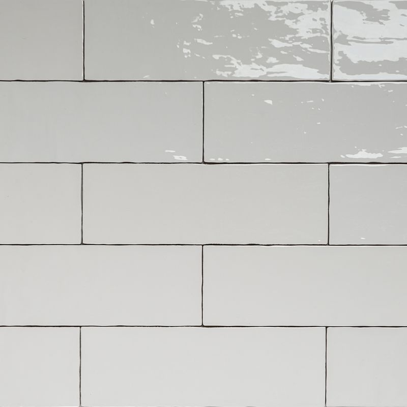 handmade white gloss natura wall subway tiles 396 130 in stretcher