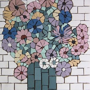 Flower Mosaic French Porcelain — 23