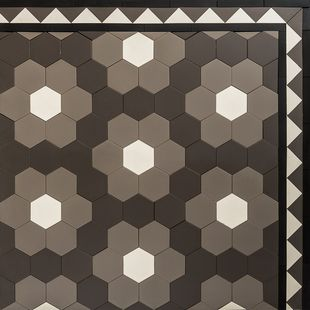 Hexagon - Florette Hexagon 100 Continuous Design & Balmain Border