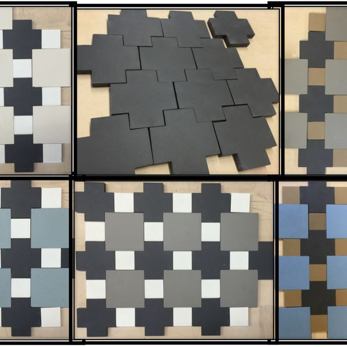 Be Different!  Select from Our Porcelain Cross Shaped Tile Patterns Just Arrived