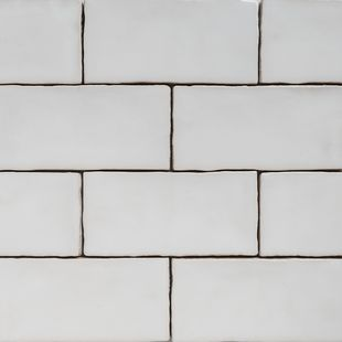 Handmade Natura White Gloss Subway Tile 130×65