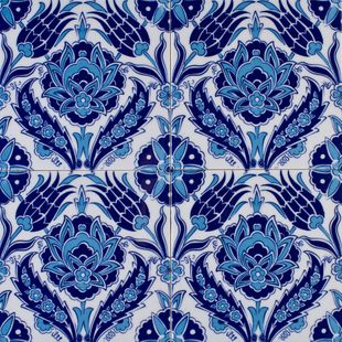 Iznik turkish tile F14-002
