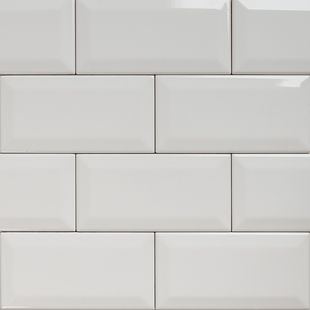 Subway - Bevelled Gloss White Tile 150×75