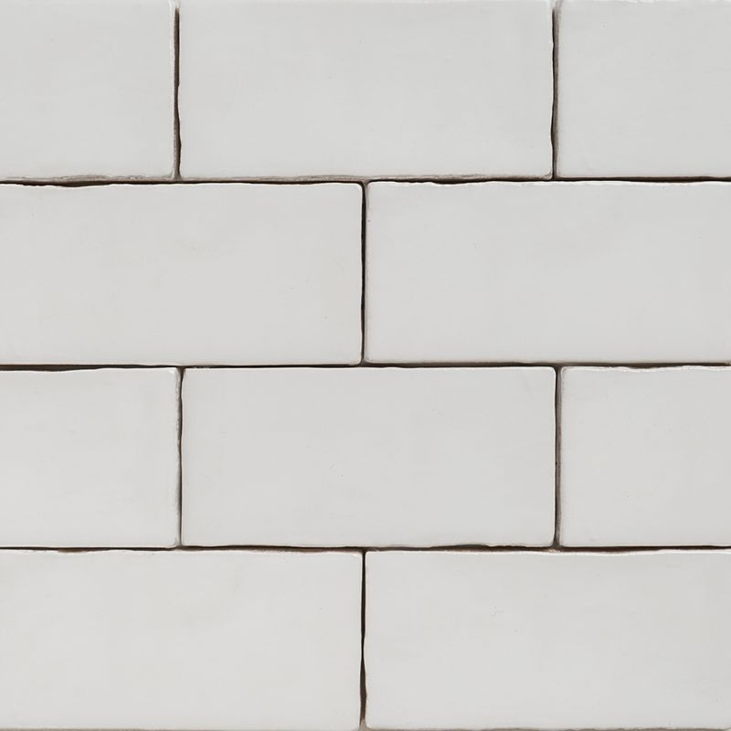 Matt White Wall Tile 20x40: Handmade White Matt Natura Wall Subway Tiles 130×65 In