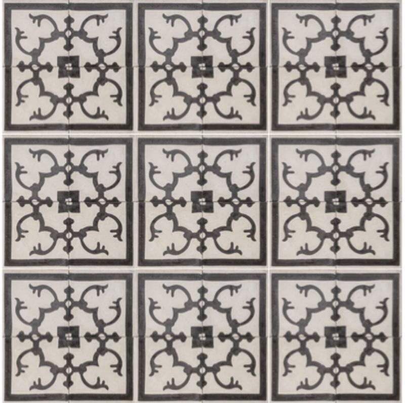 Cement encaustic tile fez design 989 eco tile factory for Fez tiles