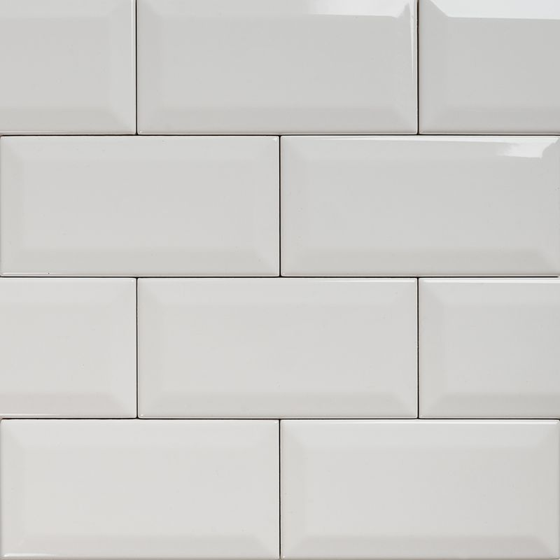 Subway Bevelled Gloss White Tile 150 215 75 Eco Tile Factory