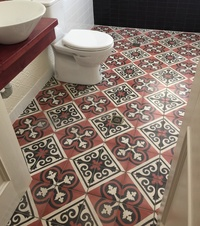 Moroccan-Mediterranean Bathroom Floor