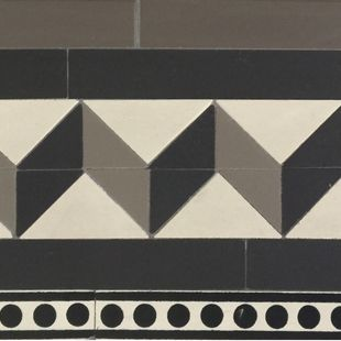 Border - Bristol with extra Strip and extra Encaustic Design Strip 170mm