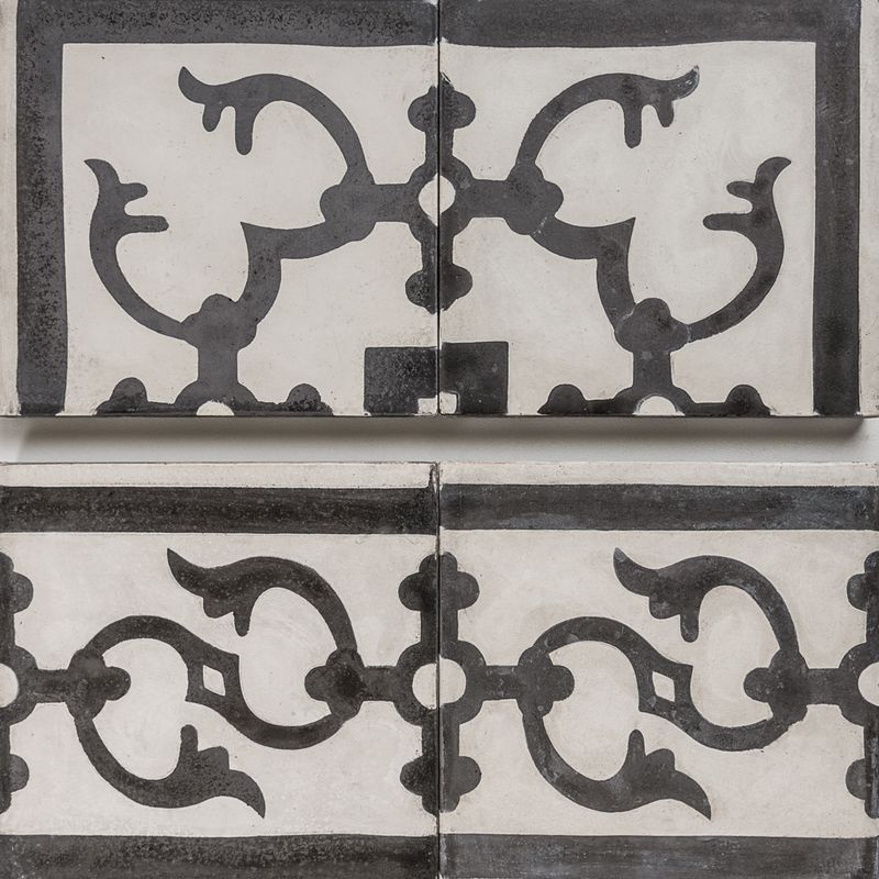 Cement Encaustic Tile Fez Design (Corners) — 989 and Fez Border ...