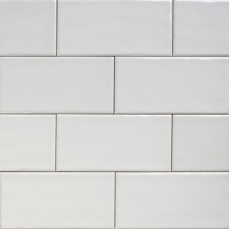 Subway White Gloss Wall Tiles 15075 Classico Textured In Stretcher