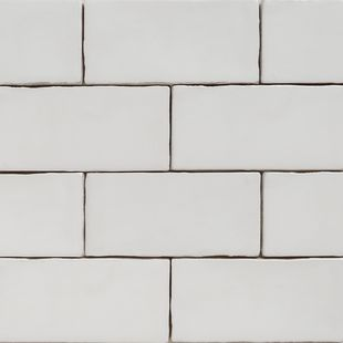 Handmade White Matt Natura Wall Subway Tiles 130×65 in Stretcher Bond Design