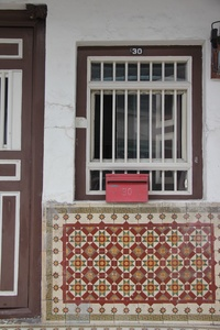 Tiles on a Facade - heritage inspiration