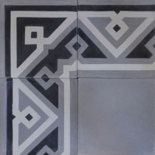 Cement Encaustic Tile Azrou Design - Border 925 & Corner 930