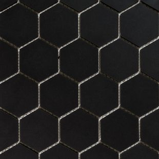 Hexagon Mosaic French Porcelain – Black