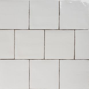 Handmade Natura Gloss White Tiles 130×130