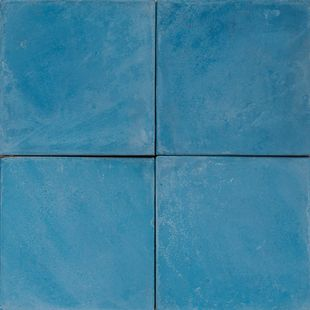 Cement Encaustic Tile Colour Mid Turquoise 4a Eco Tile
