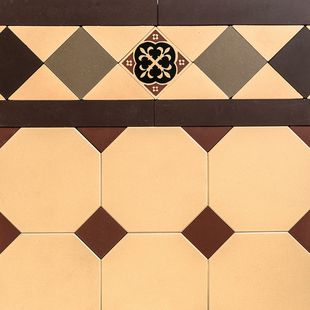 Octagon & Dot Design & Norwood Border