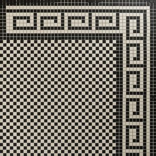 Checkerboard Mosaic Design & Greek Border