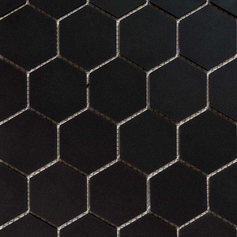 Hexagon Mosaic French Porcelain Black Eco Tile Factory