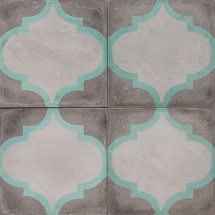 Cement Encaustic Tile Arabesque Design 966