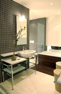 Bathroom Mosaic Feature Wall and Floor
