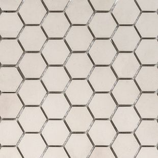 Hexagon Mosaic French Porcelain – White Mosaic