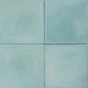 Cement Encaustic Tile Colour  Mid Turquoise # 4A
