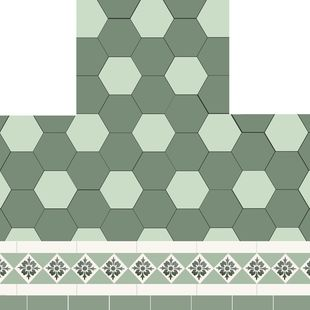 Fireplace - Florette Hexagon Design + Norwood Border