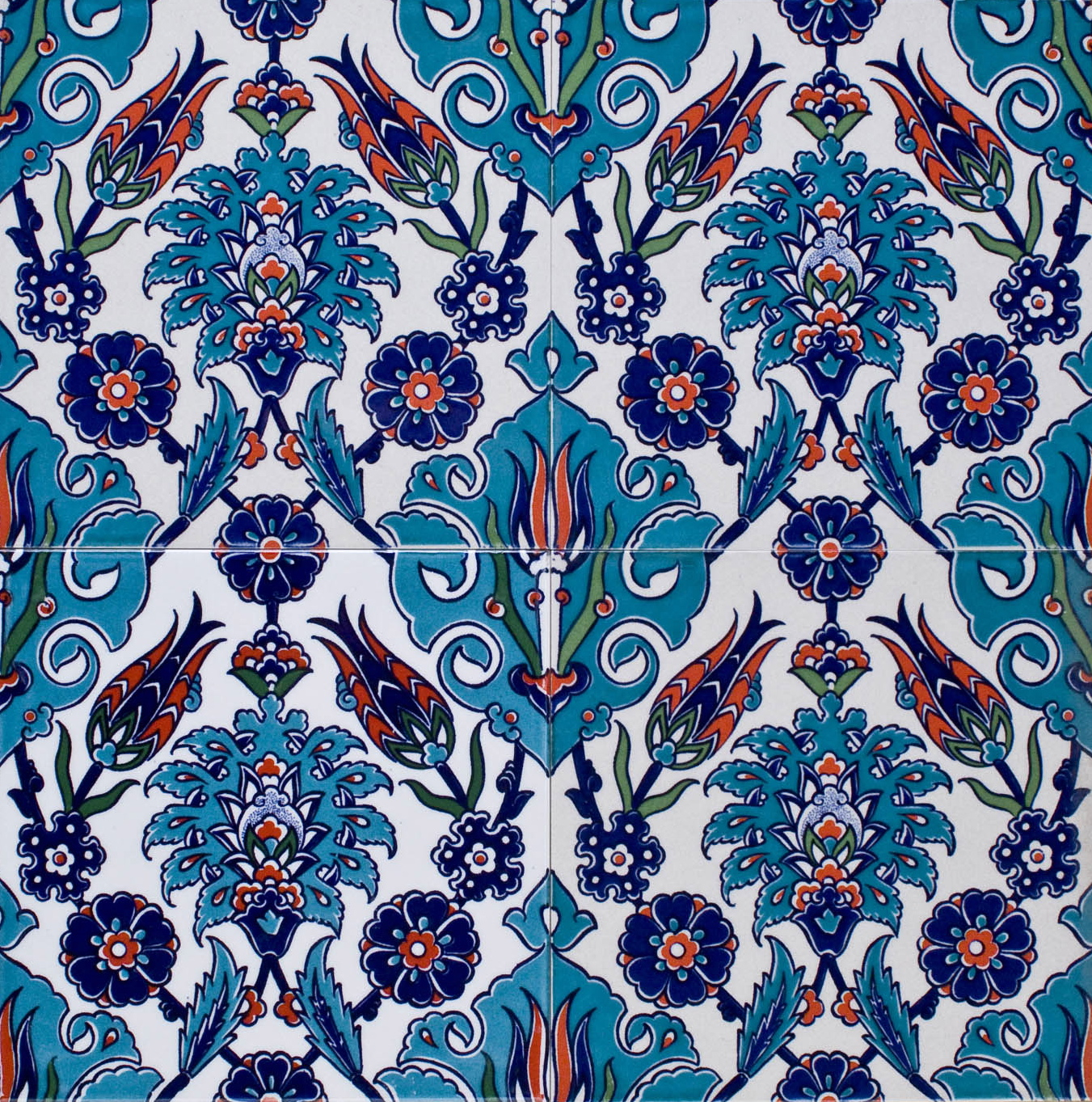 Iznik Turkish Tile F14 005 Eco Tile Factory