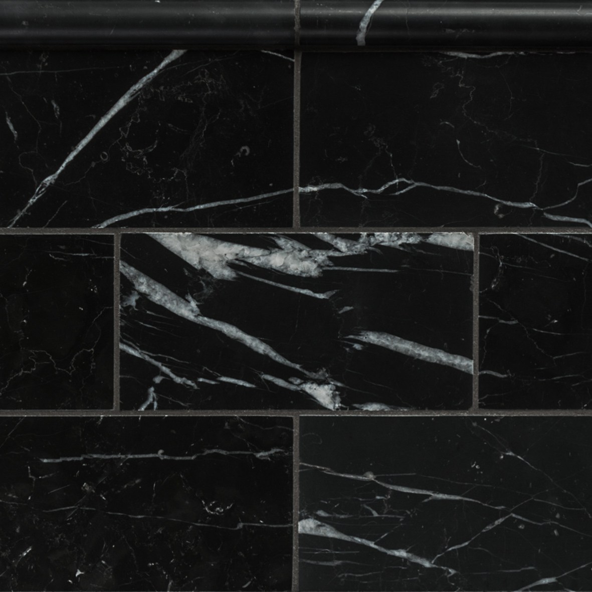 Nero Marquina Honed Marble 150 215 75 And Bead Border Eco
