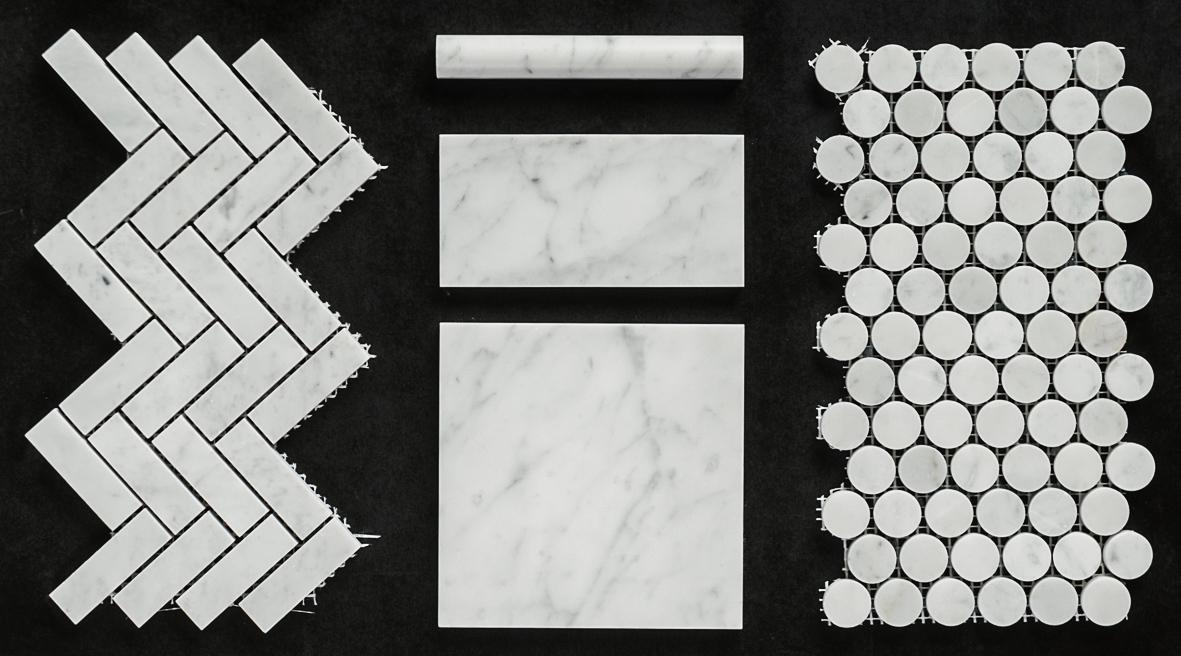 Carrara Goya Honed Marble Mosaics Eco Tile Factory