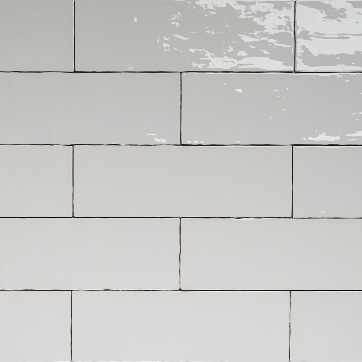 Handmade White Gloss Natura Wall Subway Tiles 396130 In