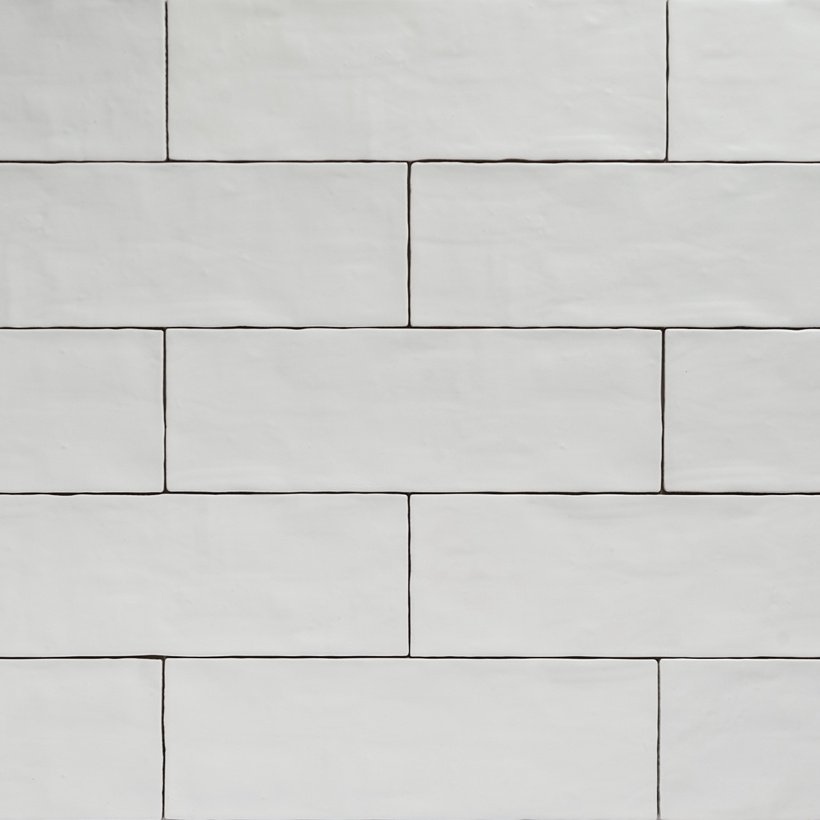 Handmade White Matt Natura Wall Subway Tiles 396 215 130 In