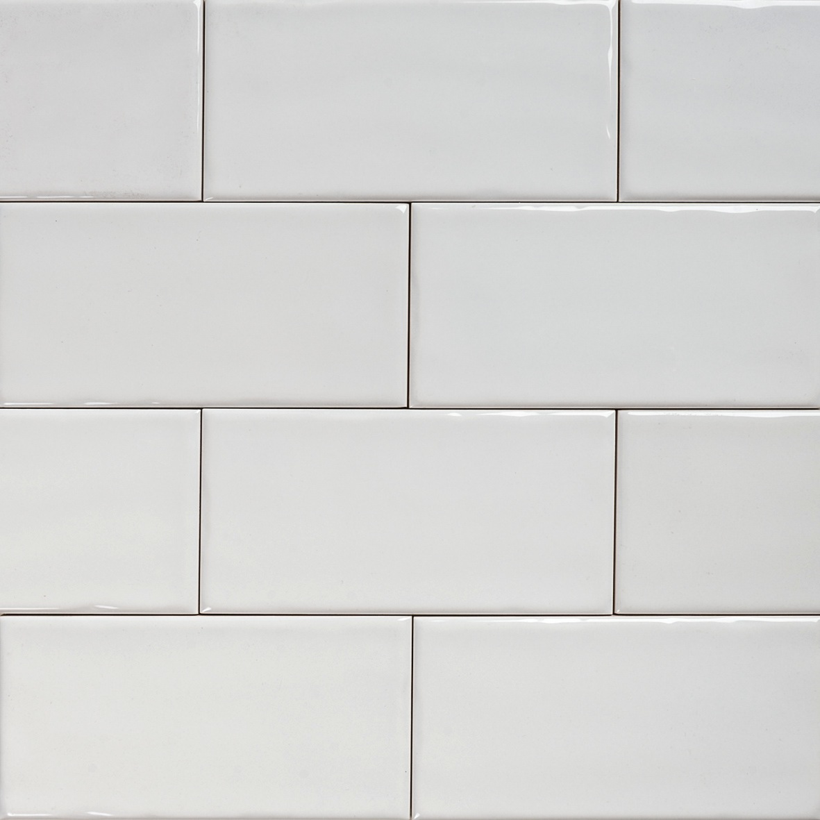 White Subway Tile Kitchen Gray Grout