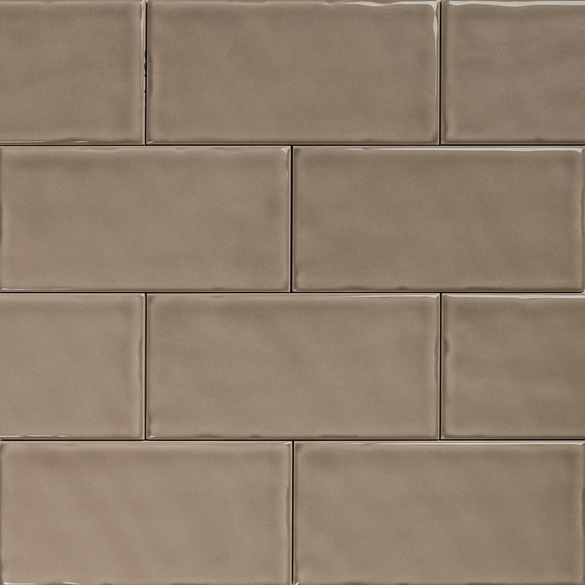 Subway taupe gloss wall tiles 150 215 75 classico textured in stretcher