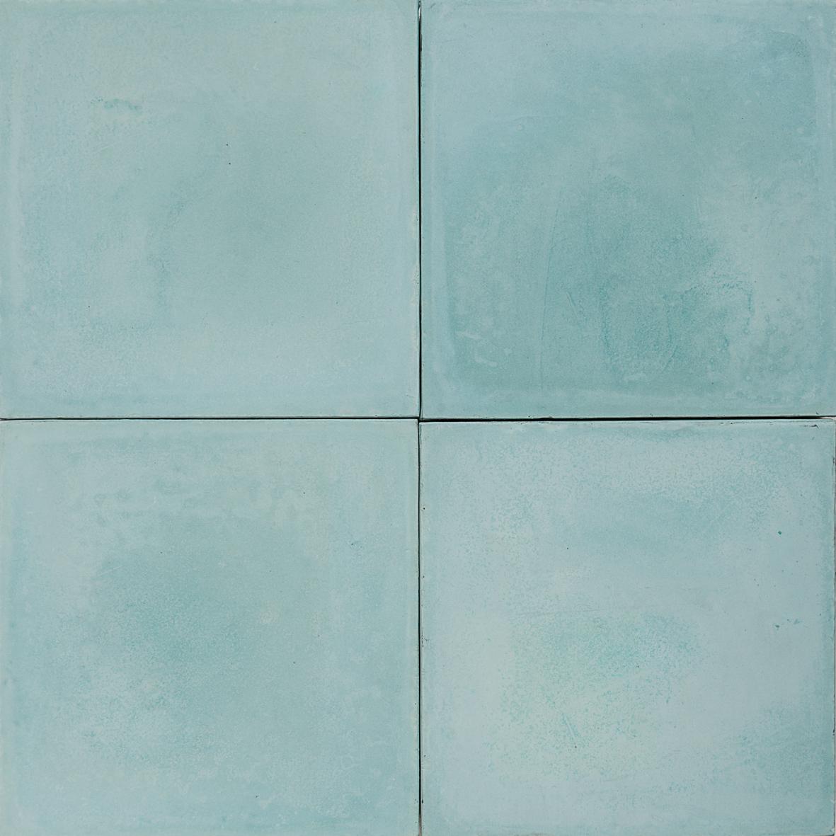 Cement Encaustic Tile Colour Mid Turquoise 4a Eco Tile