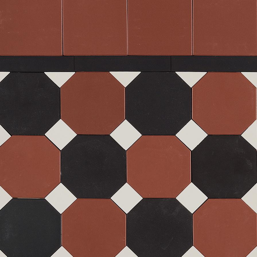 Octagon Amp Dot Design Amp Strip Border Eco Tile Factory