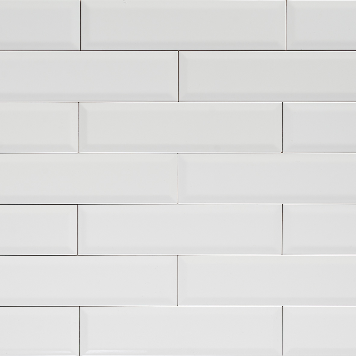 Subway Bevelled Long Gloss White Tile 300 75 Eco Tile Factory
