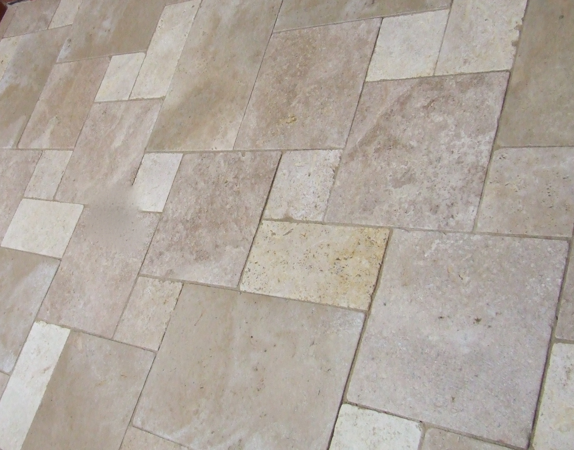 Travertine Marble Tumbled French Pattern Eco Tile Factory